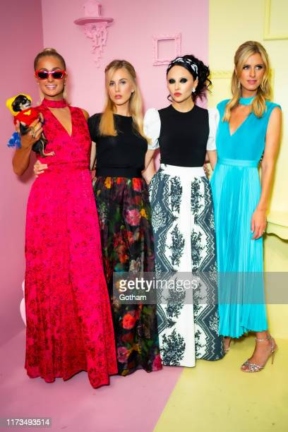 Paris Hilton Tessa Hilton Stacey Bendet and Nicky Hilton attend the Alice Olivia by Stacey Bendet presentation during New York Fashion Week The Shows...