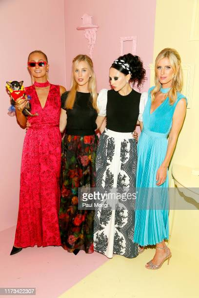 Paris Hilton, Tessa Hilton, Stacey Bendet and Nicky Hilton Rothschild attend the Alice + Olivia by Stacey Bendet arrivals during New York Fashion...