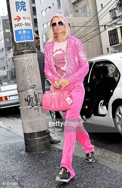 Paris Hilton visits Samantha Thavasa Omotesando Gates Store on May 31, 2008 in Tokyo, Japan.