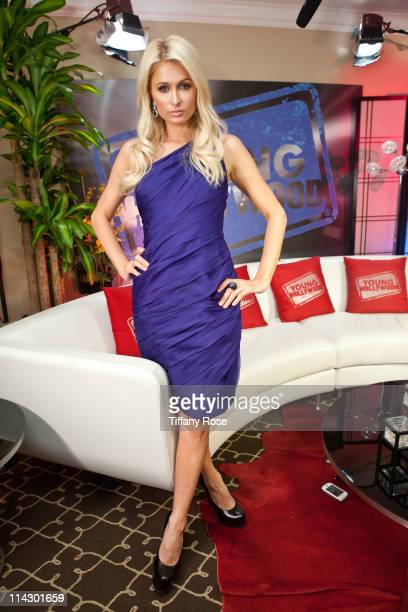 Paris Hilton visits YoungHollywoodcom at the Young Hollywood Studio on May 17 2011 in Los Angeles California