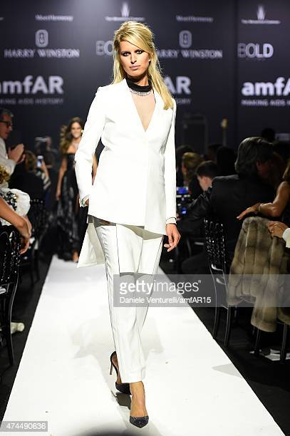 Paris Hilton walks the runway at amfAR's 22nd Cinema Against AIDS Gala Presented By Bold Films And Harry Winston at Hotel du CapEdenRoc on May 21...