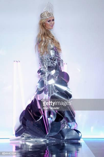 Paris Hilton walks the runway at the Christian Cowan Fall/Winter 2017 Fashion Show at Pier 59 on February 9, 2017 in New York City.