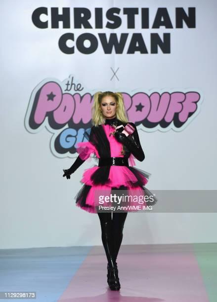 Paris Hilton walks the runway during Christian Cowan x PowerPuff Girls Runway Show at City Market Social House on March 8, 2019 in Los Angeles,...