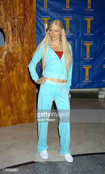 """Paris Hilton Wax Figure during The Cast of """"House of Wax"""" Reveals the Paris Hilton Wax Figure at Madame Tussauds in New York City, New York, United..."""