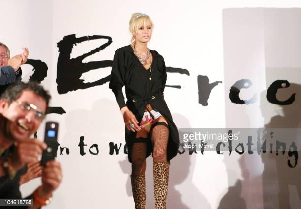Paris Hilton wearing 2BFree Spring 2006 during 2BFree's Spring 2006 Collection Fashion Show at Paramount Studios in Hollywood California United States