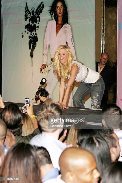 Paris Hilton wearing Chick by Nicky Hilton during Nicky Hilton Launches her New Clothing Line Chick by Nicky Hilton in Las Vegas Nevada United States
