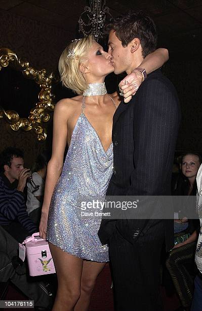 Paris Hilton With Her Boyfriend New York Socialite Paris Hilton Celebrated Her New Movie And Her 21st Birthday With Dinner At Drones Then Party At...
