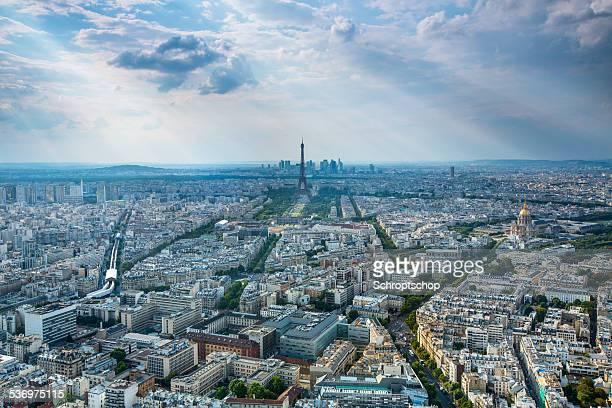 Paris Kreuzung Luftaufnahme
