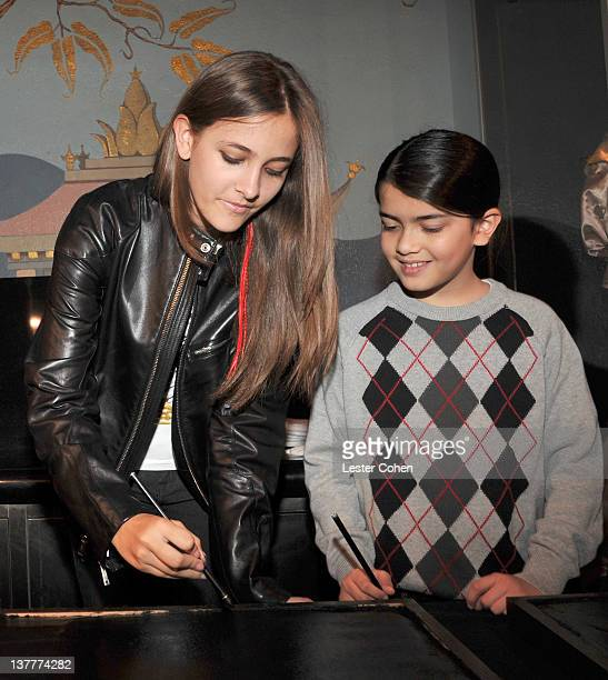 COVERAGE*** Paris Jackson and Blanket Jackson attend the immortalization of Michael Jackson at Grauman's Chinese Theatre Hand Footprint ceremony held...