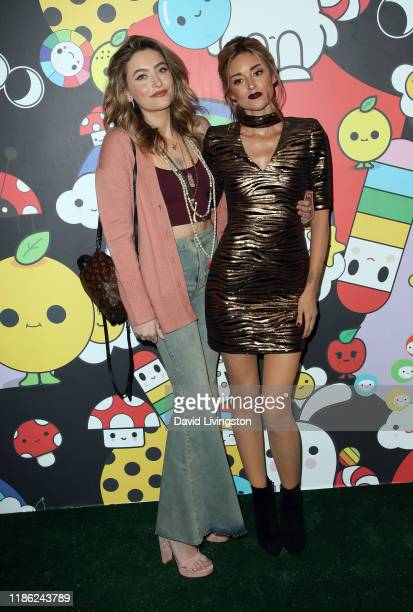 Paris Jackson and Caroline D'Amore attend the alice + olivia by Stacey Bendet x FriendsWithYou Collection LA launch party at the Hollywood Athletic...