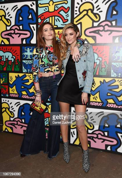 Paris Jackson and Caroline D'Amore attend the Keith Haring x Alice Olivia Launch Party at Highline Stages on November 13 2018 in New York City