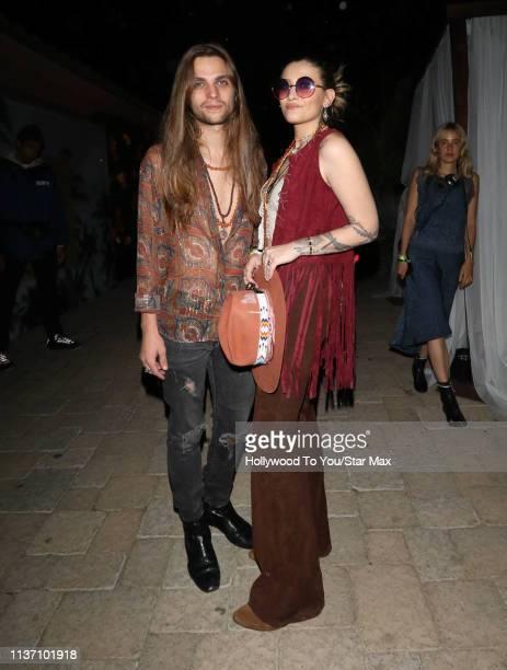 Paris Jackson and Gabriel Glenn are seen at Coachella on April 14 2019 in Indio California