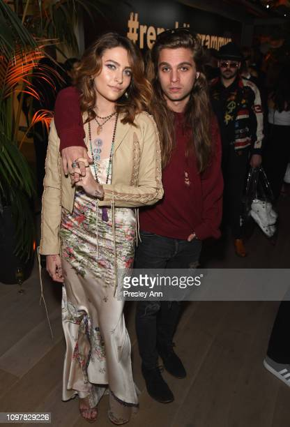 Paris Jackson and Gabriel Glenn attend Republic Records Grammy after party at Spring Place Beverly Hills on February 10 2019 in Beverly Hills...