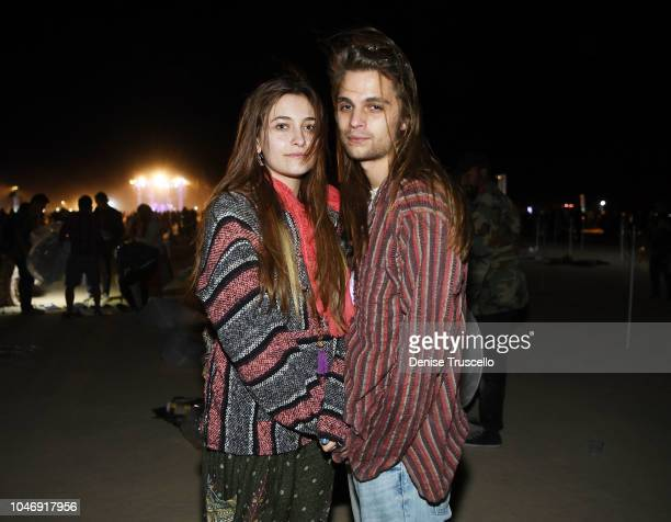 Paris Jackson and Gabriel Glenn attend RISE Lantern Festival on October 6 2018 in Jean Nevada