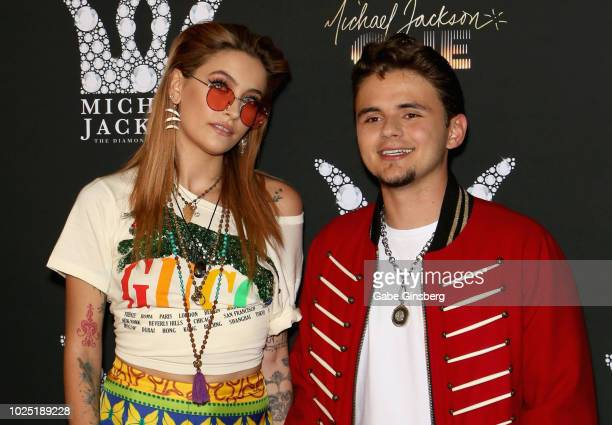 Paris Jackson and her brother Prince Michael Jackson attend the Michael Jackson diamond birthday celebration at Mandalay Bay Resort and Casino on...