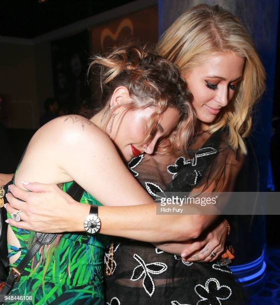 Paris Jackson and Paris Hilton attend the CASA Of Los Angeles' 2018 Evening To Foster Dreams Galaat The Beverly Hilton Hotel on April 18 2018 in...