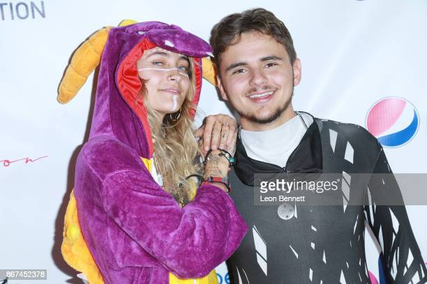 Paris Jackson and Prince Jackson attend Prince Jackson's Heal LA And TLK Fusion Present The 2nd Annual Costume For A Cause at Jackson Family Home on...