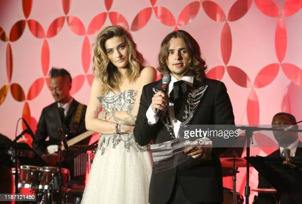 Paris Jackson and Prince Jackson attend the Ryan Gordy Foundation 60 Years of Motown Celebration at the Waldorf Astoria Beverly Hills on November 11...