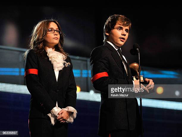 Paris Jackson and Prince Jackson onstage at the 52nd Annual GRAMMY Awards held at Staples Center on January 31 2010 in Los Angeles California