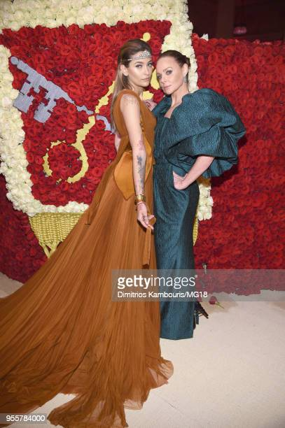 Paris Jackson and Stella McCartney attends the Heavenly Bodies Fashion The Catholic Imagination Costume Institute Gala at The Metropolitan Museum of...