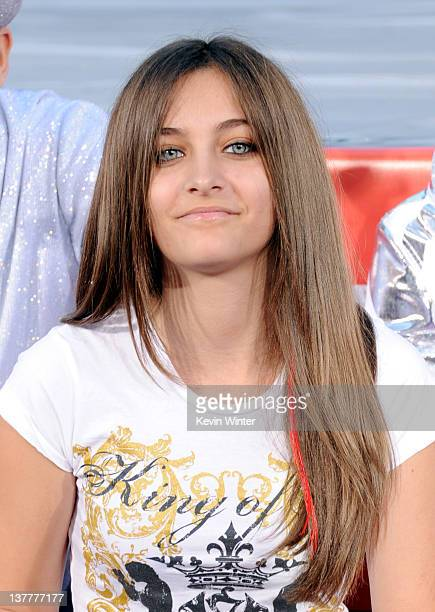 Paris Jackson appears at the Michael Jackson Hand and Footprint ceremony at Grauman's Chinese Theatre on January 26 2012 in Los Angeles California