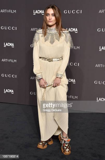 Paris Jackson arrives at the 2018 LACMA Art Film Gala at LACMA on November 3 2018 in Los Angeles California