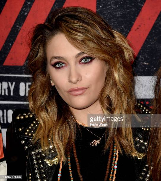Paris Jackson arrives at the premiere of Netflix's 'The Dirt' at ArcLight Hollywood on March 18 2019 in Hollywood California