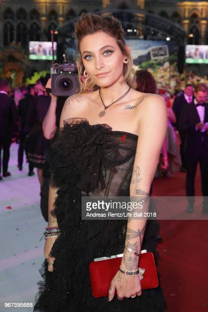 Paris Jackson arrives for the Life Ball 2018 at City Hall on June 2 2018 in Vienna Austria The Life Ball an annual charity event raising funds for...