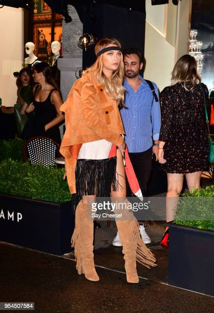 Paris Jackson arrives to the Longchamp Opening at Longchamp Fifth Avenue on May 3 2018 in New York City