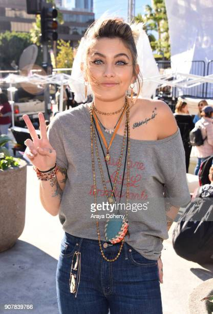 Paris Jackson at 2018 Women's March Los Angeles at Pershing Square on January 20 2018 in Los Angeles California
