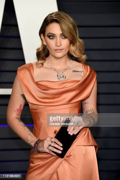 Paris Jackson attends 2019 Vanity Fair Oscar Party Hosted By Radhika Jones Arrivals at Wallis Annenberg Center for the Performing Arts on February 24...