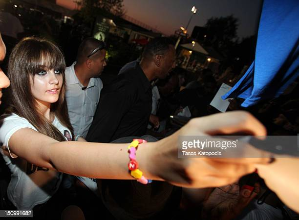 Paris Jackson attends a candlelight vigil at the childhood home of Michael Jackson on August 29 2012 in Gary Indiana