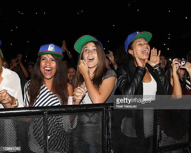 Paris Jackson attends a Chris Brown concert held at Staples Center on October 20 2011 in Los Angeles California