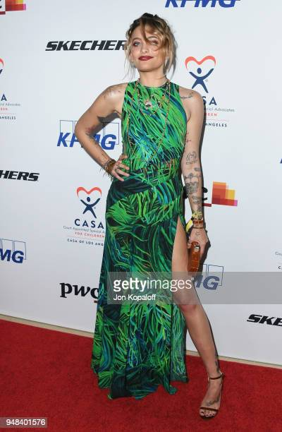 Paris Jackson attends CASA Of Los Angeles' 2018 Evening To Foster Dreams Gala at The Beverly Hilton Hotel on April 18 2018 in Beverly Hills California
