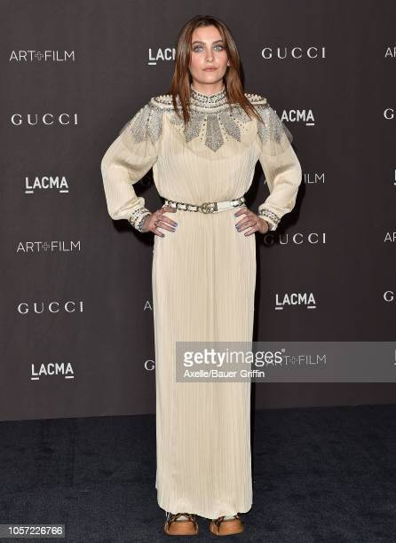 Paris Jackson attends the 2018 LACMA Art Film Gala at LACMA on November 03 2018 in Los Angeles California