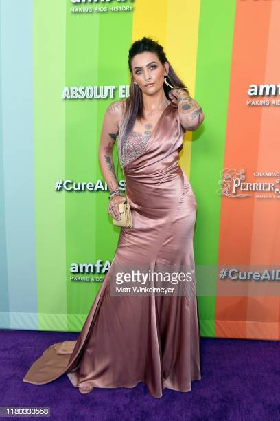 Paris Jackson attends the 2019 amfAR Gala Los Angeles at Milk Studios on October 10, 2019 in Los Angeles, California.