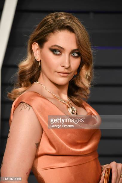 Paris Jackson attends the 2019 Vanity Fair Oscar Party hosted by Radhika Jones at Wallis Annenberg Center for the Performing Arts on February 24 2019...