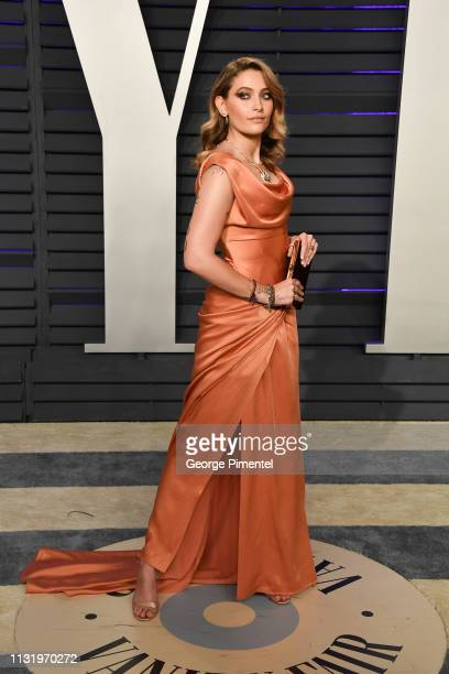 Paris Jackson attends the 2019 Vanity Fair Oscar Party hosted by Radhika Jones at Wallis Annenberg Center for the Performing Arts on February 24,...