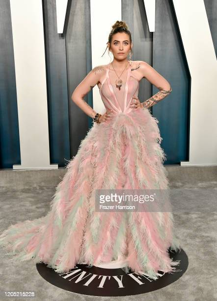 Paris Jackson attends the 2020 Vanity Fair Oscar Party hosted by Radhika Jones at Wallis Annenberg Center for the Performing Arts on February 09 2020...
