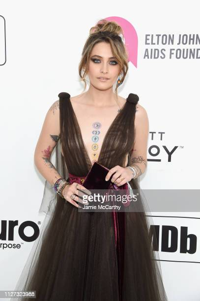 Paris Jackson attends the 27th annual Elton John AIDS Foundation Academy Awards Viewing Party sponsored by IMDb and Neuro Drinks celebrating EJAF and...