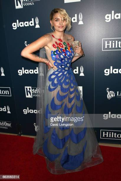 Paris Jackson attends the 28th Annual GLAAD Media Awards at The Beverly Hilton Hotel on April 1 2017 in Beverly Hills California