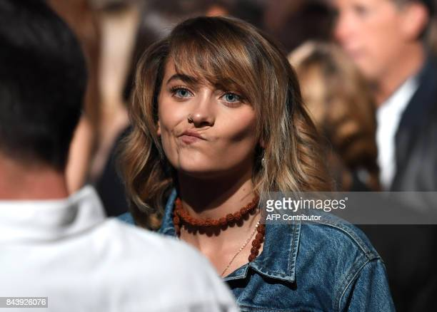 Paris Jackson attends the Calvin Klein Collection fashion show during New York Fashion Week on September 7 2017 in New York City / AFP PHOTO / ANGELA...