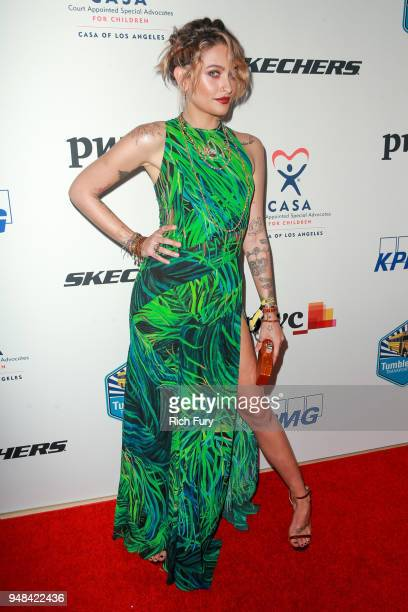 Paris Jackson attends the CASA Of Los Angeles' 2018 Evening To Foster Dreams Gala at The Beverly Hilton Hotel on April 18 2018 in Beverly Hills...