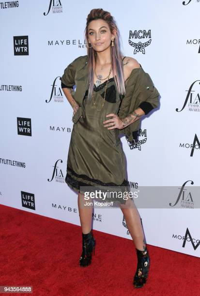 Paris Jackson attends The Daily Front Row's 4th Annual Fashion Los Angeles Awards at Beverly Hills Hotel on April 8 2018 in Beverly Hills California