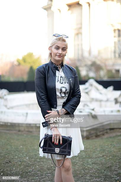 Paris Jackson attends the Dior Homme Menswear Fall/Winter 20172018 show as part of Paris Fashion Week on January 21 2017 in Paris France