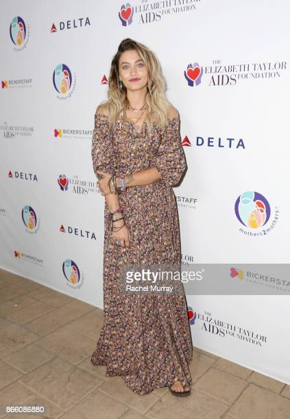 Paris Jackson attends The Elizabeth Taylor AIDS Foundation and mothers2mothers dinner at Ron Burkle's Green Acres Estate on October 24 2017 in...