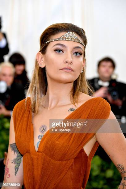 Paris Jackson attends the Heavenly Bodies Fashion The Catholic Imagination Costume Institute Gala at The Metropolitan Museum of Art on May 7 2018 in...