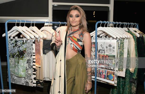Paris Jackson attends the HM celebration of 2018 Conscious Exclusive collection at John Lautner's Harvey House on April 5 2018 in Los Angeles...