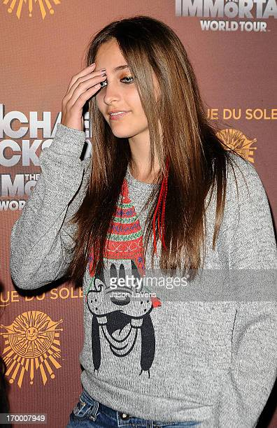 Paris Jackson attends the Los Angeles opening of Michael Jackson THE IMMORTAL World Tour at Staples Center on January 27 2012 in Los Angeles...
