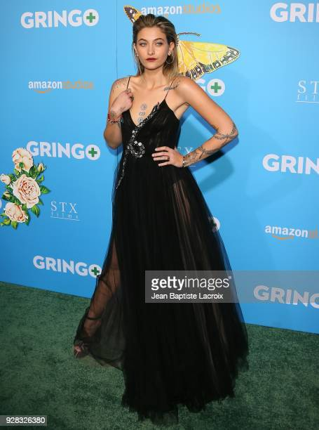 Paris Jackson attends the world premiere of 'Gringo' from Amazon Studios and STX Films at Regal LA Live Stadium 14 on March 6 2018 in Los Angeles...